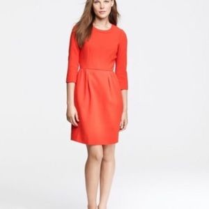 JCrew red wool dress